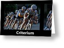 Criterium With Caption Greeting Card