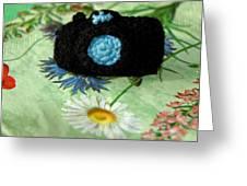 Crochet Camera Color Greeting Card