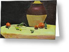Crock With Fruit Greeting Card