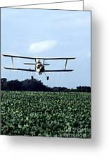 Crop Dusting Greeting Card