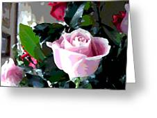 Cropped Clipped Pink Greeting Card