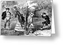 Croquet, 1873 Greeting Card