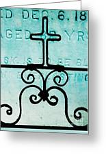 Crosses Voided Greeting Card