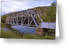 Crossing The Animas In Durango Greeting Card