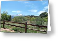 Crossing The Fence Greeting Card
