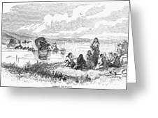 Crossing The Platte, 1859 Greeting Card by Granger