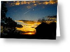 Crossing The Sky Greeting Card