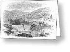 Croton Dam, 1860 Greeting Card