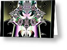 Crown And Jeweled Lotus Flowers Fractal 124 Greeting Card