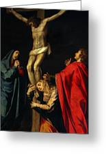 Crucification At Night Greeting Card