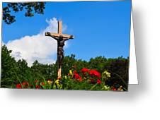 Crucifix In Indian River Greeting Card