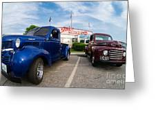 Cruise Night At The Diner Greeting Card