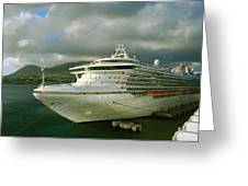 Cruise Ship In Port Greeting Card