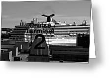 Cruise Terminal Two Greeting Card