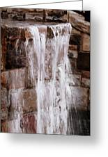 Crying Waterfall Greeting Card by Kelly Rader