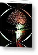 Crystal Ball Fireworks Greeting Card