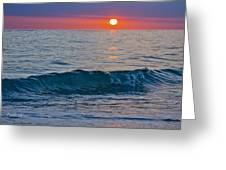 Crystal Blue Waters At Sunset In Treasure Island Florida 3 Greeting Card