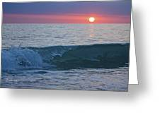 Crystal Blue Waters At Sunset In Treasure Island Florida 4 Greeting Card