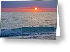 Crystal Blue Waters At Sunset In Treasure Island Florida Greeting Card