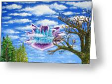 Crystal Hermitage Castle In The Clouds Greeting Card
