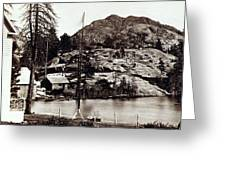 Crystal Lake And Black Butte - California - C 1865 Greeting Card