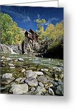 Crystal Mill In Autumn Greeting Card