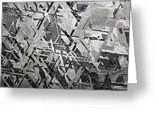 Crystal Structures In Meteorite Greeting Card
