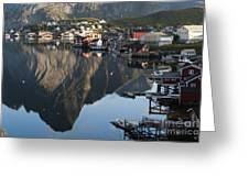 Crystal Waters At Reine Village Greeting Card