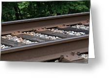Csx Railroad Track Greeting Card