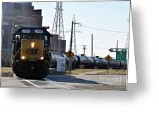 Csx Train Greeting Card