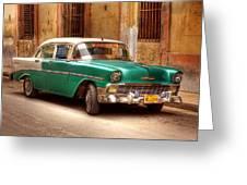 Cuban Cars  Greeting Card