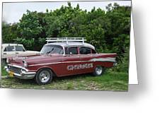 Cuban Chevrolet Greeting Card