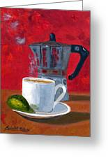 Cuban Coffee And Lime Red R62012 Greeting Card