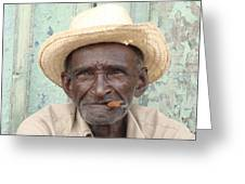 Cuba's Old Faces Greeting Card