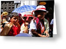 Cuenca Kids 187 Greeting Card by Al Bourassa