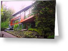 Cullen House Aka Hoke House Greeting Card by Kelly Manning