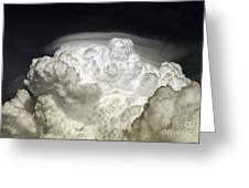 Cumulus Congestus Cloud With Pileus Greeting Card