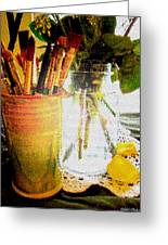 Cup O Brushes Greeting Card