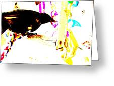 Curious Crow Greeting Card by YoMamaBird Rhonda