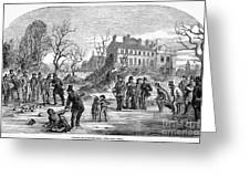 Curling, 1853 Greeting Card