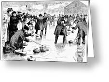 Curling, 1884 Greeting Card
