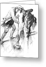 Curling Players, 1885 Greeting Card