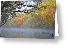 Current River Fall 44r Greeting Card