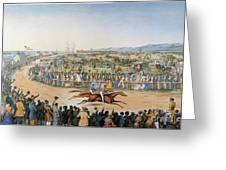Currier & Ives: Racing, 1845 Greeting Card