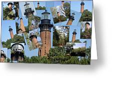 Currituck Beach Light House Station Nc Usa Greeting Card