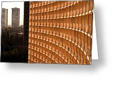 Curved Balconies Greeting Card