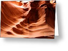 Curves In The Canyon Greeting Card
