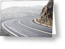 Curving Two Lane Road Greeting Card by Jetta Productions, Inc