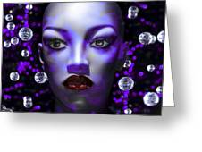 Cushioned Lips Moon Lady Greeting Card