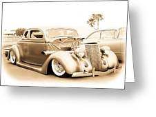 Custom 1936 Ford Greeting Card
